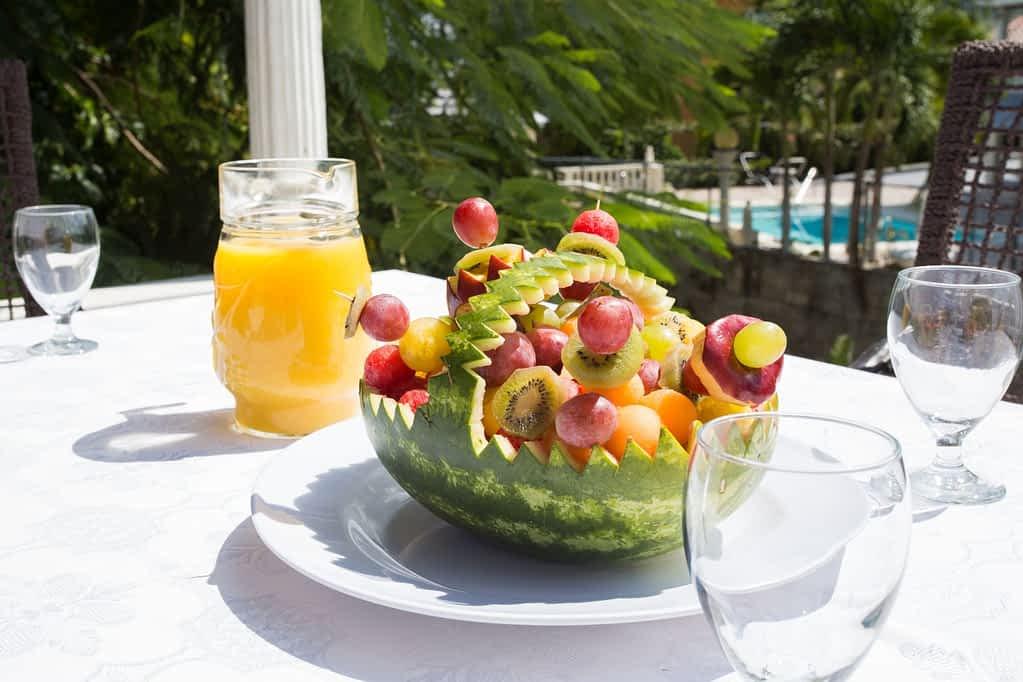 Jamaica Villa Patio Fruit