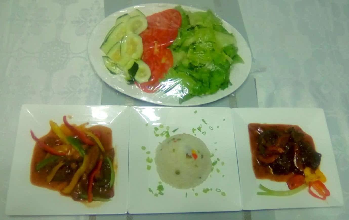 Dining at Jamaica villa