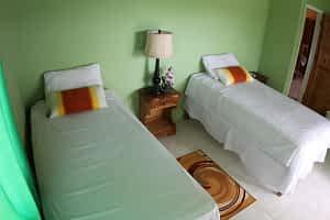 Jamaica villa twin bedroom