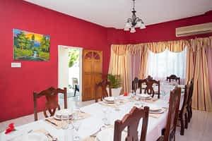 large elegant formal dining room