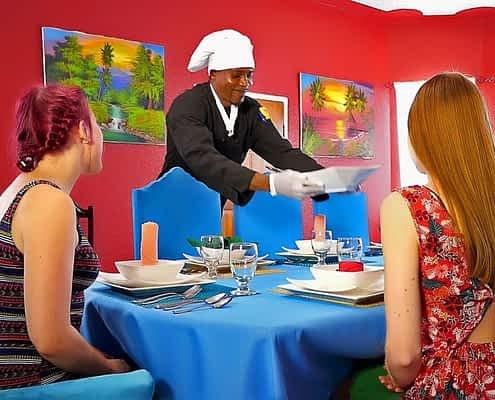 Jamaica villas with private chef preparing gourmet meals