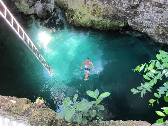 Blue Hole Hot Mineral Spring Cave