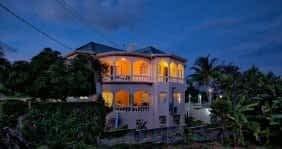 Villa Serenity by the sea night view