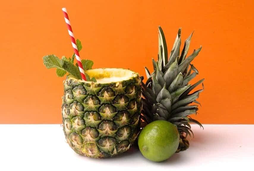 Jamaica villa pine apple cocktail