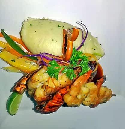 Lobster Dish Villa Serenity Ocho Rios